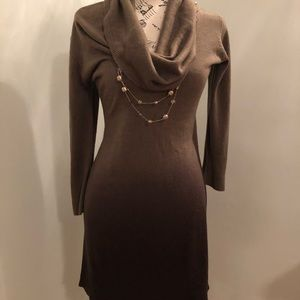 Dresses & Skirts - Sz S like new ombré brown 3/4 sleeve sweater dress